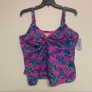 NWT Swimsuits For All floral tropical tankini 26